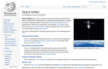 http://en.wikipedia.org/wiki/Space_tether