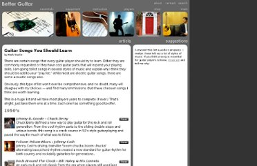 http://www.betterguitar.com/instruction/essentials/songs_you_should_learn/songs_you_should_learn.html