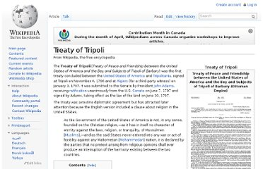 http://en.wikipedia.org/wiki/Treaty_of_Tripoli