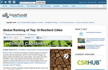 http://www.triplepundit.com/2011/06/top-10-globally-resilient-cities/