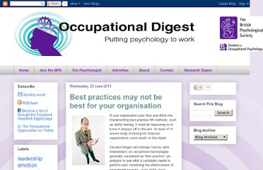 http://bps-occupational-digest.blogspot.com/2011/06/best-practices-may-not-be-best-for-your.html