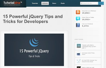 http://tutorialzine.com/2011/06/15-powerful-jquery-tips-and-tricks-for-developers/