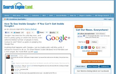 http://searchengineland.com/how-to-see-inside-google-if-you-cant-get-inside-google-83651