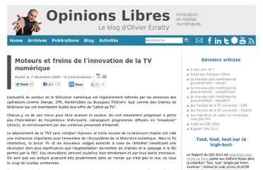 http://www.oezratty.net/wordpress/2009/moteurs-et-freins-de-linnovation-de-la-tv-numrique/