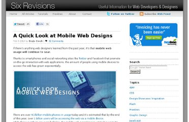 http://sixrevisions.com/user-interface/a-quick-look-at-mobile-web-designs/