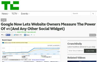 http://techcrunch.com/2011/06/29/google-now-lets-website-owners-measure-the-power-of-1-and-any-other-social-widget/