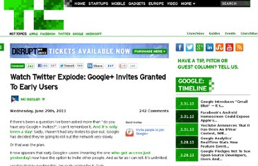 http://techcrunch.com/2011/06/29/google-plus-invites/