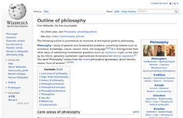 http://en.wikipedia.org/wiki/Outline_of_philosophy