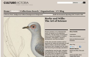 http://www.cv.vic.gov.au/stories/burke-and-wills-the-art-of-science/