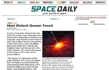http://www.spacedaily.com/reports/Most_Distant_Quasar_Found_999.html