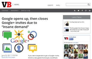 http://venturebeat.com/2011/06/29/google-opens-up-then-closes-google-plus-invites/