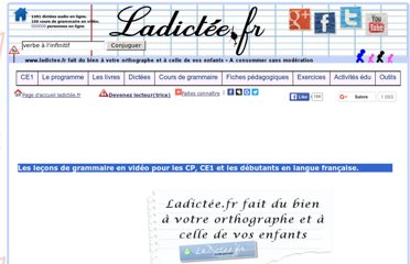 http://www.ladictee.fr/grammaire/cours_de_francais_en_video_gratuits/CP_CE1_french_learner/les_lecons_de_francais_en_video_CP_CE1_learn_french.html