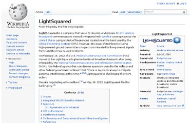 http://en.wikipedia.org/wiki/LightSquared