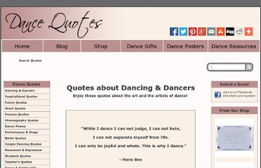 http://www.dance-quotes.net/dancing-&-dancers-quotes.html