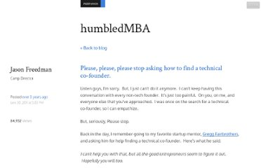 http://www.humbledmba.com/please-please-please-stop-asking-how-to-find