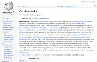 http://en.wikipedia.org/wiki/Combinatorics
