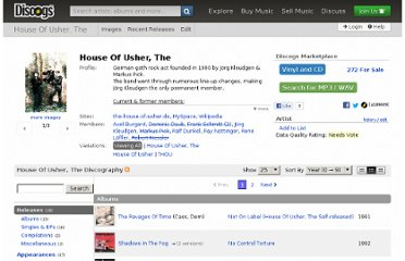 http://www.discogs.com/artist/House+Of+Usher,+The