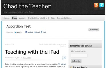 http://chadtheteacher.com/blog/teaching-with-the-ipad/