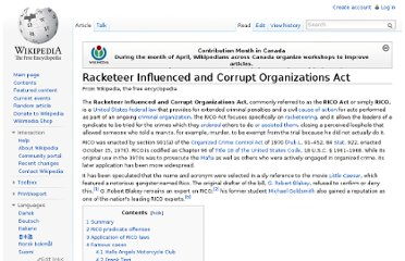 http://en.wikipedia.org/wiki/Racketeer_Influenced_and_Corrupt_Organizations_Act