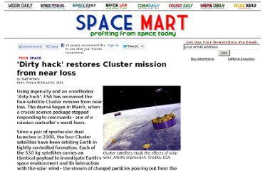 http://www.spacemart.com/reports/Dirty_hack_restores_Cluster_mission_from_near_loss_999.html