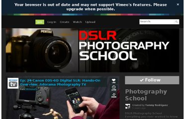 http://vimeo.com/channels/photographyschool