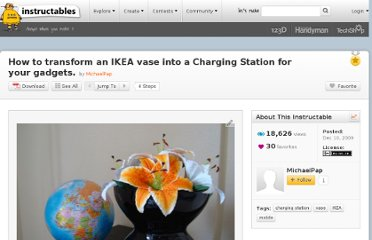 http://www.instructables.com/id/How-to-transform-an-IKEA-vase-into-a-Charging-Stat/