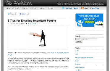 http://sixrevisions.com/project-management/tips-emailing-important-people/