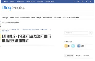 http://blogfreakz.com/javascript/fathom-js-present-javascript-in-its-native-environment/