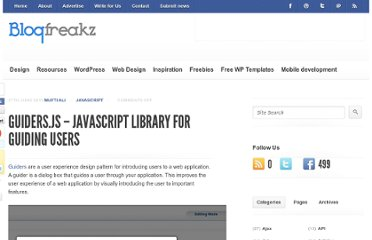 http://blogfreakz.com/javascript/guiders-js-javascript-library-for-guiding-users/