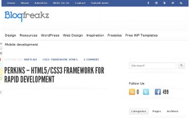 http://blogfreakz.com/html5/perkins-html5css3-framework-for-rapid-development/