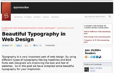 http://spyrestudios.com/beautiful-typography-in-web-design-2/