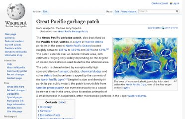 http://en.wikipedia.org/wiki/Great_Pacific_Garbage_Patch