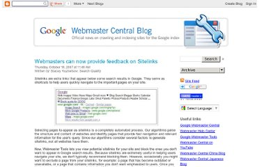 http://googlewebmastercentral.blogspot.com/2007/10/webmasters-can-now-provide-feedback-on.html