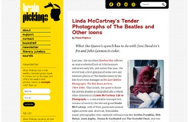 http://www.brainpickings.org/index.php/2011/07/01/linda-mccartney-beatles-photographs/