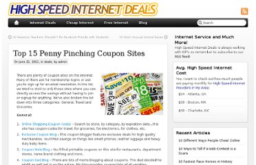 http://www.highspeedinternetdeals.org/blog/2011/top-15-penny-pinching-coupon-sites/