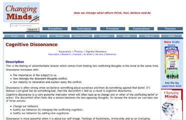 http://changingminds.org/explanations/theories/cognitive_dissonance.htm