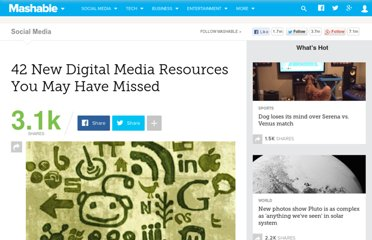 http://mashable.com/2011/07/02/digital-media-resources-21/