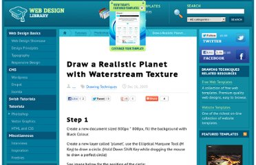 http://www.webdesign.org/photoshop/drawing-techniques/draw-a-realistic-planet-with-waterstream-texture.16956.html