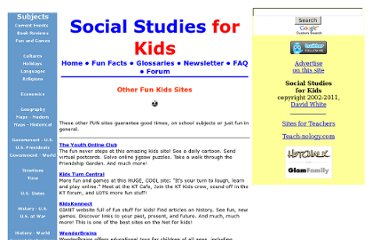 http://www.socialstudiesforkids.com/subjects/otherfunkidssites.htm