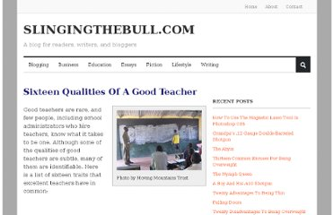 http://slingingthebull.com/sixteen-qualities-of-a-good-teacher/