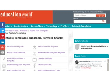 http://www.educationworld.com/tools_templates/index.shtml