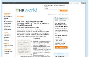 http://www.hrworld.com/features/top-100-management-blogs-061008/