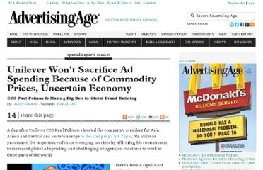 http://adage.com/article/special-report-cannes/unilever-sacrifice-ads-uncertain-economy/228400/