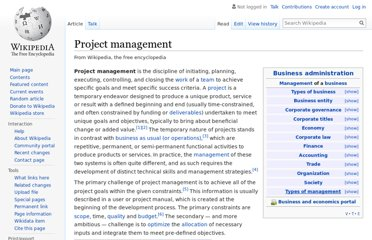 http://en.wikipedia.org/wiki/Project_management