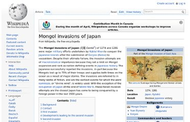 http://en.wikipedia.org/wiki/Mongol_invasions_of_Japan