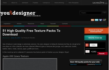 http://www.youthedesigner.com/2011/06/23/51-high-quality-free-texture-packs-to-download/