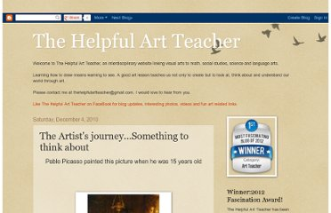 http://thehelpfulartteacher.blogspot.com/2010/12/artists-journeysomething-to-think-about.html