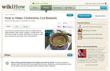http://www.wikihow.com/Make-Clothesline-Coil-Baskets