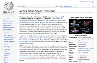 http://en.wikipedia.org/wiki/James_Webb_Space_Telescope