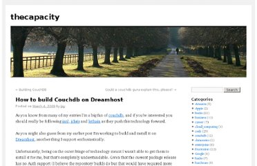 http://blog.thecapacity.org/2009/03/04/how-to-build-couchdb-on-dreamhost/